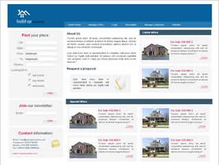 Real estate blue white