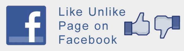 facebook page like unlike