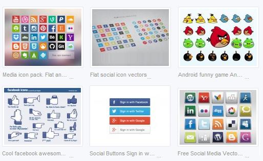 100 plus social media icons