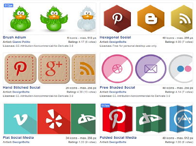 120 Social Network Icons Sets
