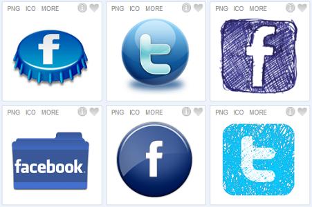 500 plus social media icons