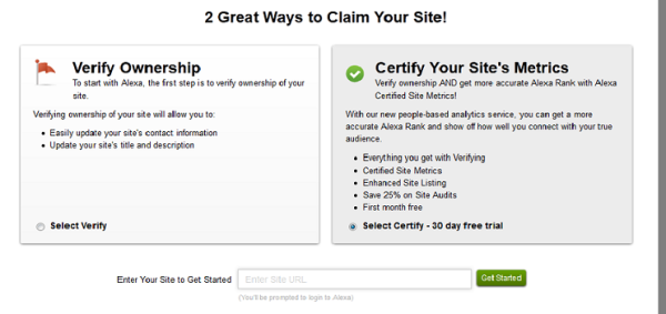 claim your site