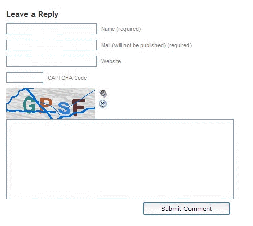 SI captcha plugin for the wordpress