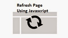 refresh page using javacript