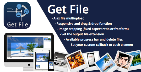 Get File Uploader and cropper