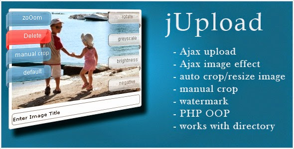 jupload php ajax upload and manage images
