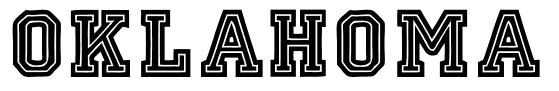 oklahoma free baseball fonts