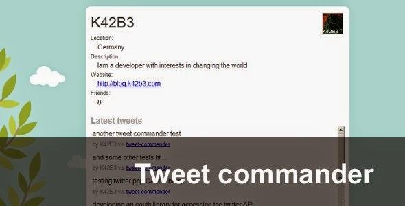 tweet commander
