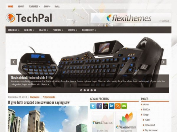 Techpal free wordpress theme