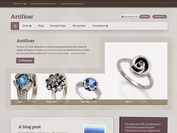artificer free wordpress theme