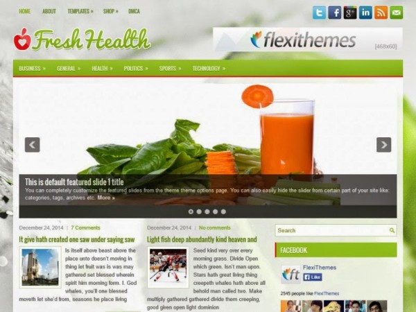 freshhealth free wordpress theme