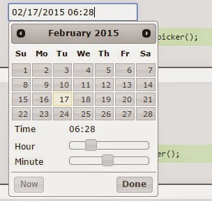 jquery ui Datepicker with timepicker