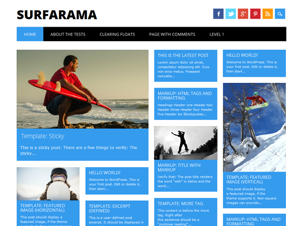surfarama free wordpress theme