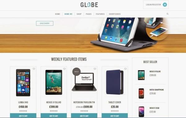 GLOBE free ecommerce wordpress themes