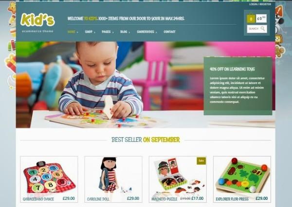 KIDSHOP free ecommerce wordpress themes