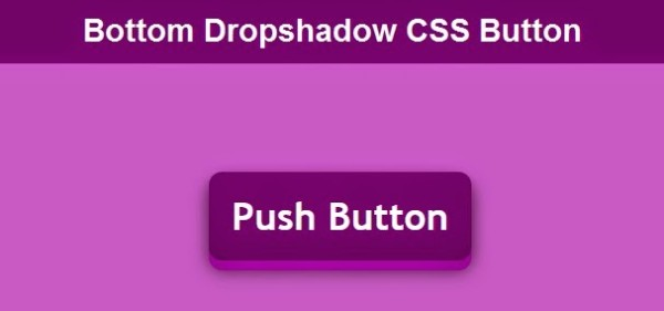 bottom dropshadow 3d css button