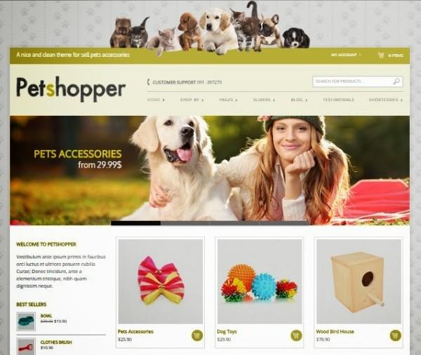 petshopper free ecommerce wordpress themes