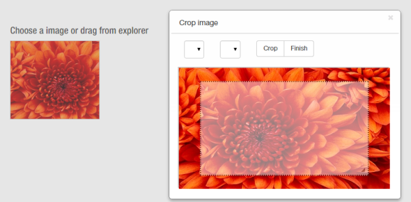 Picture Cut Open Source File Upload Jquery Plugin