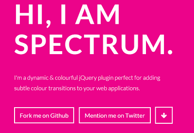 Spectrum background color transition jquery animation plugin