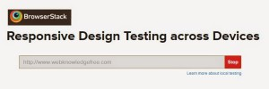 BrowserStack Emulator Responsive Design Testing across Devices