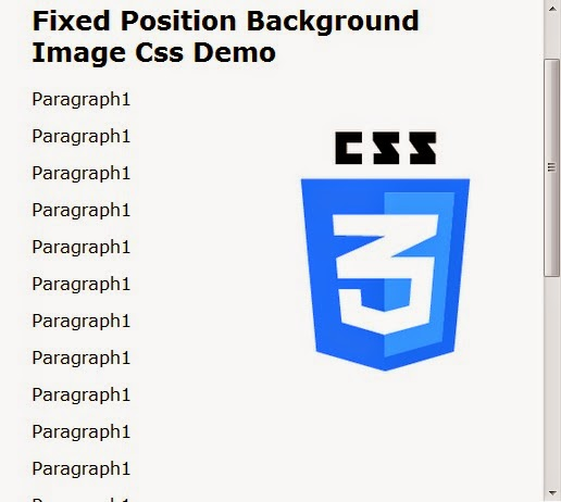 FIXED POSITION BACKGROUND IMAGE CSS