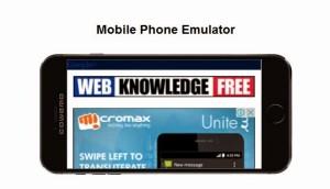 mobile phone emulator online webiste testing tool