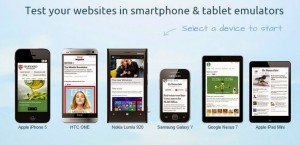 mobile simulator or mobile emulator for website testing