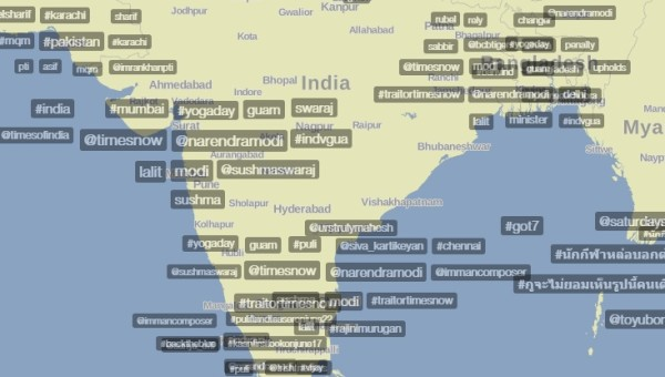 Most Popular Trending Hashtags By Location on Trendsmap