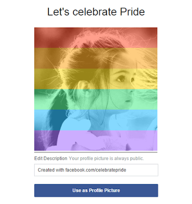 facebook pride rainbow filter -celebratepride app