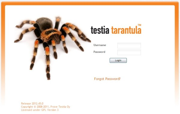 tarantula open source software testing tools