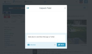 how to private message on twitter