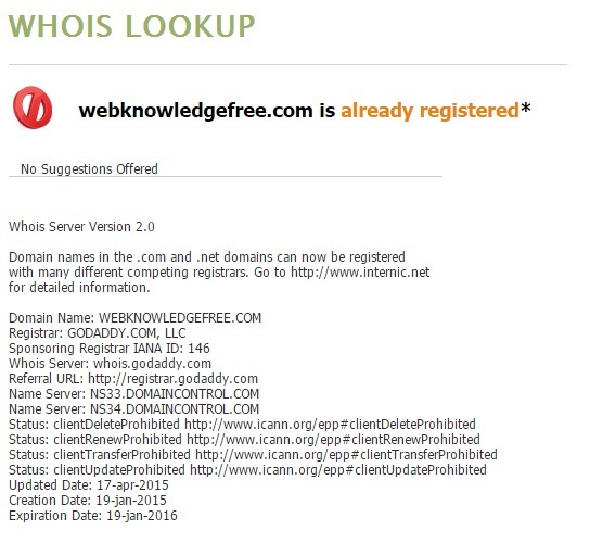 How To Find Out Who Owns a Domain Name – Web Knowledge Free