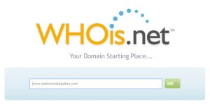 how to find who owns a domain name using whois.net