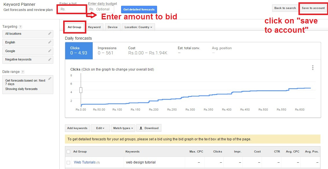 how to use the google adwords keyword planner tool web