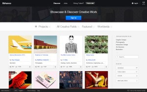 Behance online portfolio platform for creative designer