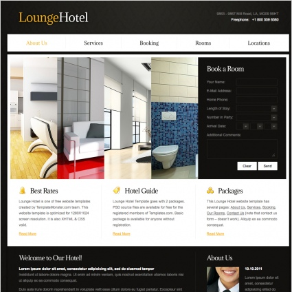 10+ FREE HOTEL HTML WEB SITES TEMPLATES
