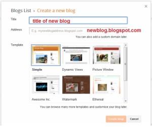 create new blog on blogger website