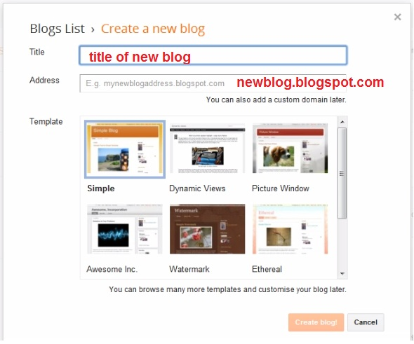 How to create a free blog on blogger web knowledge free New website create free online