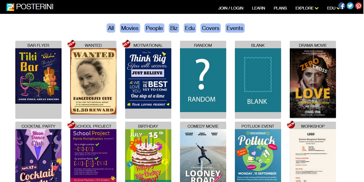 best online poster maker to design your own stunning