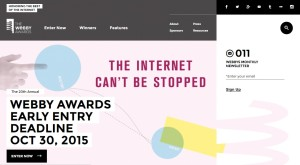 webbyawards leading international websit for awards