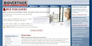 Make money from bidvertiser