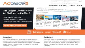 adblade ad publisher network