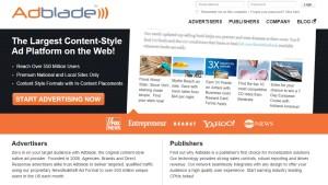 adblade ad publisher network