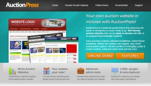 auctionpress - wordpress auction themes for online auction store