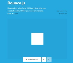 bouncejs - css animation library for web designer