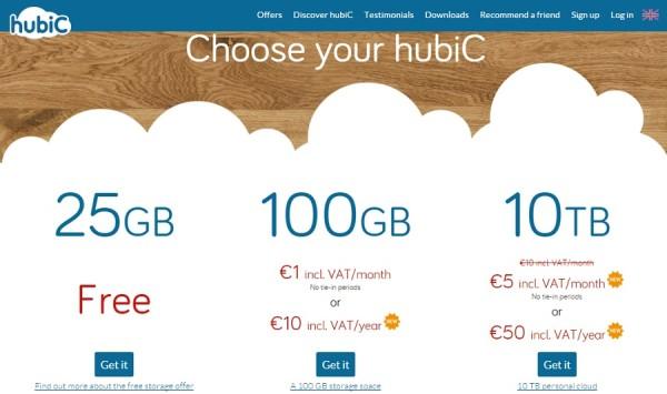 hubic - free cloud storage offer plan
