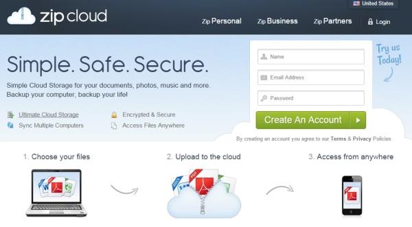 zipcloud - free online cloud backup & storage
