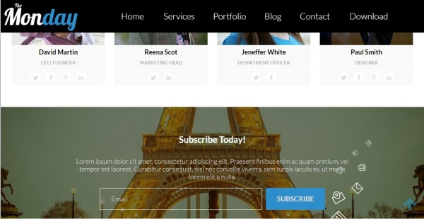 The Monday- elegant responsive wordpress theme for freelancer and business