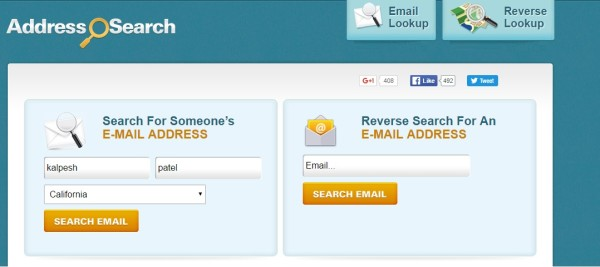 addresssearch - find email address by name in USA