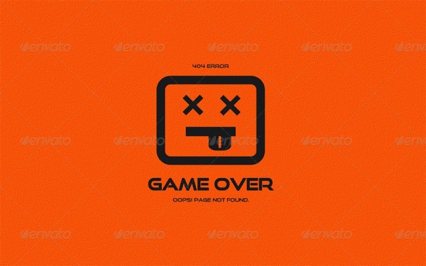 404 not found game over page